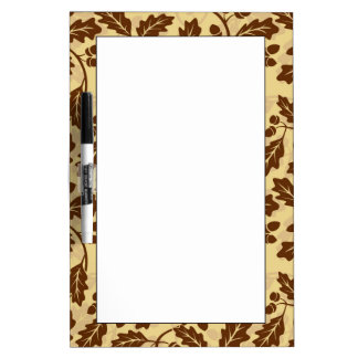 Oak leaf acorn background dry erase board