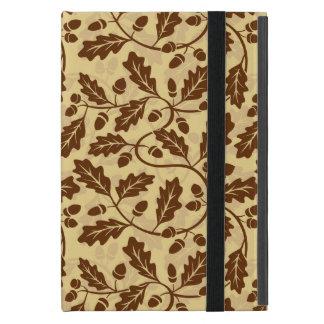 Oak leaf acorn background iPad mini case