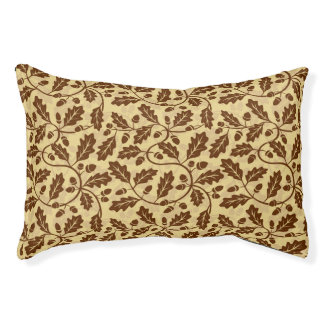Oak leaf acorn background pet bed