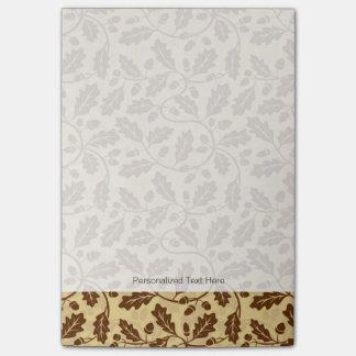 Oak leaf acorn background post-it® notes