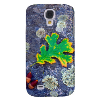 Oak Leaf and Acorns on a Lichen covered rock Galaxy S4 Case