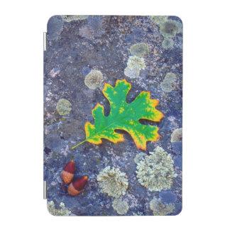 Oak Leaf and Acorns on a Lichen covered rock iPad Mini Cover