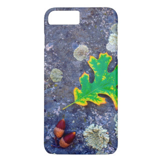 Oak Leaf and Acorns on a Lichen covered rock iPhone 8 Plus/7 Plus Case