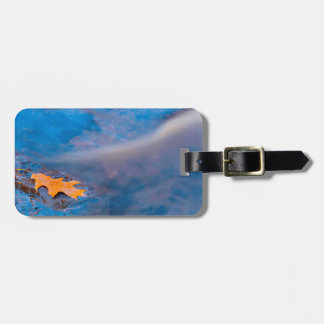 Oak leaf on rock in Rosseau River Luggage Tag