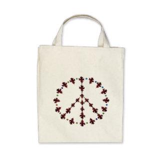 Oak leaf Peace symbol with dots Bags