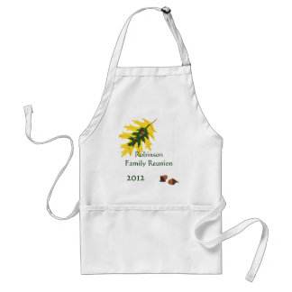 Oak Leaves and Acorn Family Reunion Standard Apron