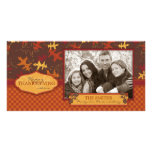 Oak Leaves in Fall Colours for Thanksgiving Photo Cards