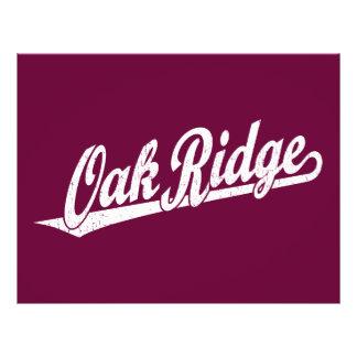 Oak Ridge script logo in white distressed 21.5 Cm X 28 Cm Flyer