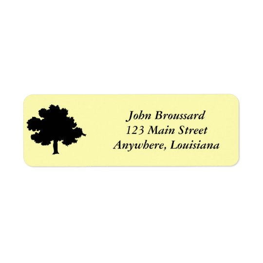 Oak Tree Address Label