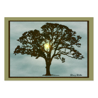 Oak Tree at Sunset Art Card Business Card Templates