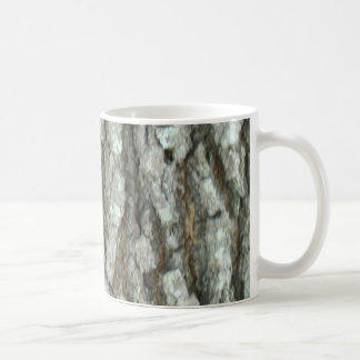 Oak Tree Bark Real Wood Camo Nature Camouflage Basic White Mug