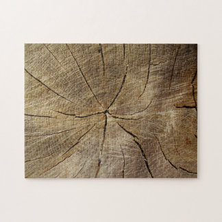 Oak Tree Cross Section Photo Puzzle with Gift Box