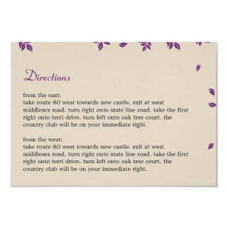Oak Tree Directions Card 9 Cm X 13 Cm Invitation Card