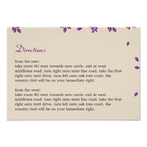 Oak Tree Directions Card Invitations