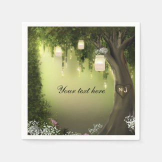 Oak Tree Enchanted Forest Garden Wedding Napkins Disposable Serviette