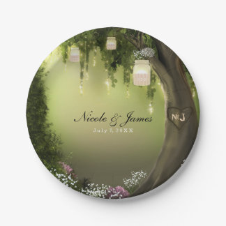Oak Tree Enchanted Forest Garden Wedding Plates