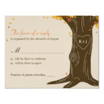 Oak Tree Fall Wedding RSVP / Response Card Custom Invitation