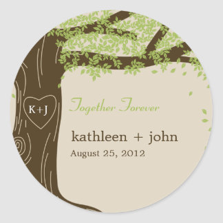 Oak Tree Favor Sticker