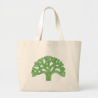 Oak tree Oakland green Large Tote Bag