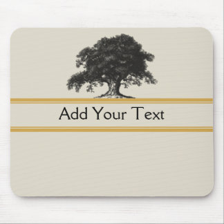 Oak Tree Plantation in Gold Mousepads