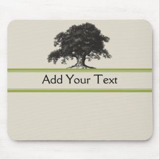 Oak Tree Plantation in Green Mouse Pad