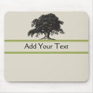 Oak Tree Plantation in Green Mouse Pad
