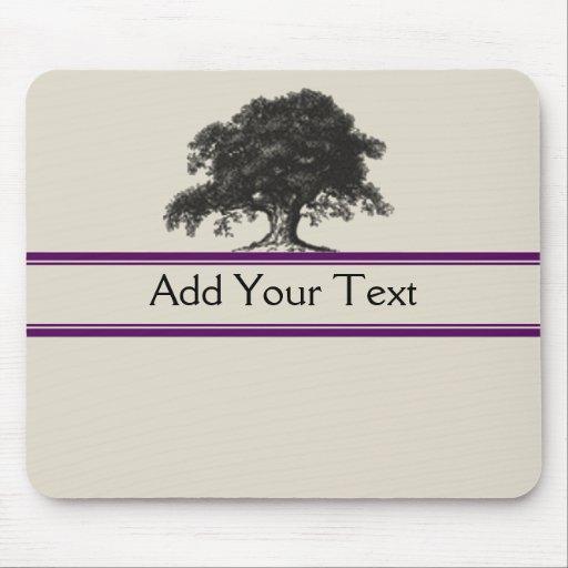 Oak Tree Plantation in Purple Mousepad