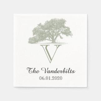 Oak Tree Plantation Wedding Napkin Disposable Napkins