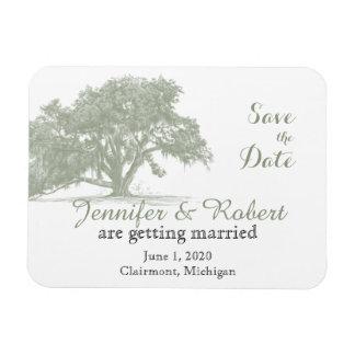 Oak Tree Plantation Wedding Save the Date Magnet