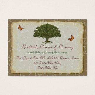 Oak Tree Reception Enclosure Card