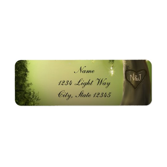 Oak Tree Rustic Enchanted Forest Garden Labels