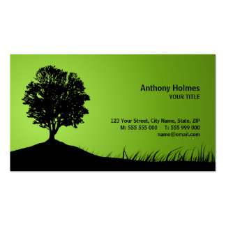 Oak Tree Silhouette business card