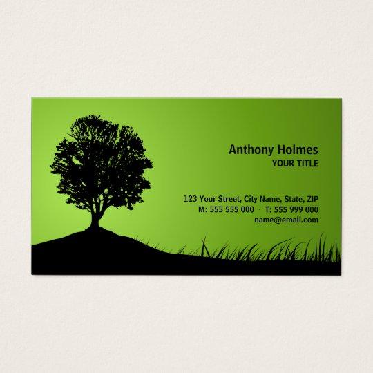 Oak Tree Silhouette business card