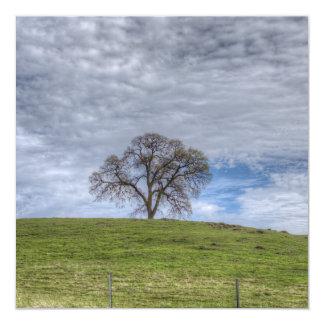 Oak Tree Solitaire 13 Cm X 13 Cm Square Invitation Card