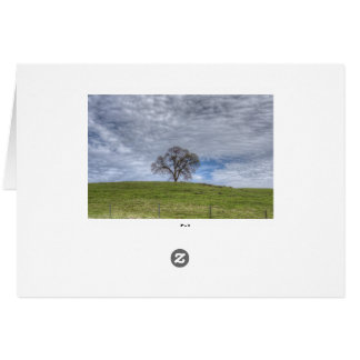 Oak Tree Solitaire Greeting Card