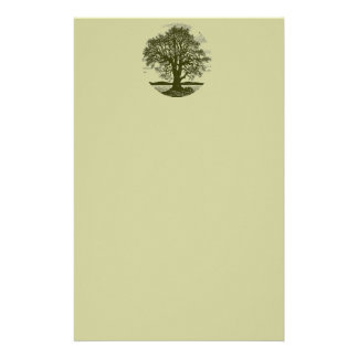 Oak Tree Stationary Custom Stationery