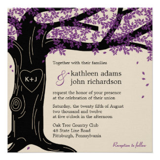Oak Tree Wedding Invitation Invite