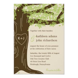 Oak Tree Wedding Invitation Personalized Invite