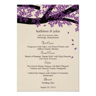 Oak Tree Wedding Menu Card 13 Cm X 18 Cm Invitation Card