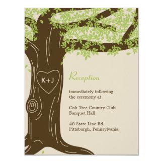 Oak Tree Wedding Reception Card 11 Cm X 14 Cm Invitation Card
