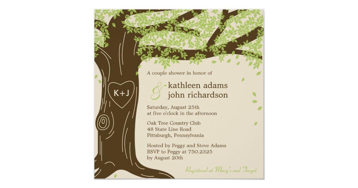oak tree wedding shower invitation zazzlecouk With oak tree wedding invitations uk