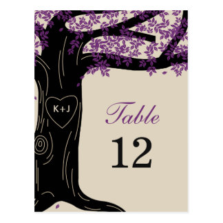Oak Tree Wedding Table Number Card Post Cards