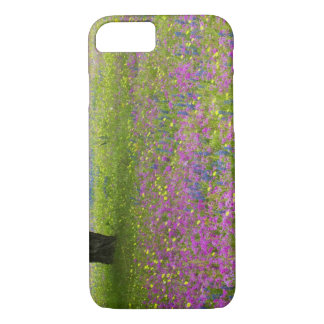 Oak Trees with field of Phlox, Blue Bonnets iPhone 8/7 Case