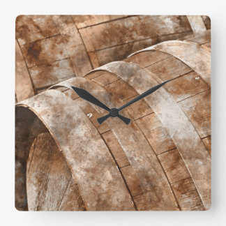 Oak Wine Barrel Wallclocks