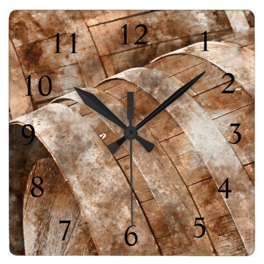 Oak Wine Barrel Wine Time Clock