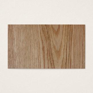 Oak Wood Grain Look Business Card