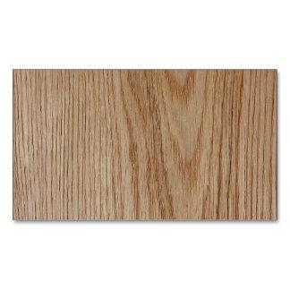 Oak Wood Grain Look Magnetic Business Cards