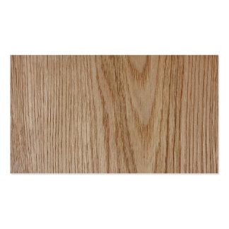 Oak Wood Grain Look Pack Of Standard Business Cards