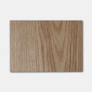 Oak Wood Grain Look Post-it Notes