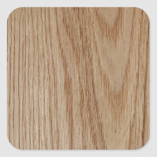 Oak Wood Grain Look Square Sticker